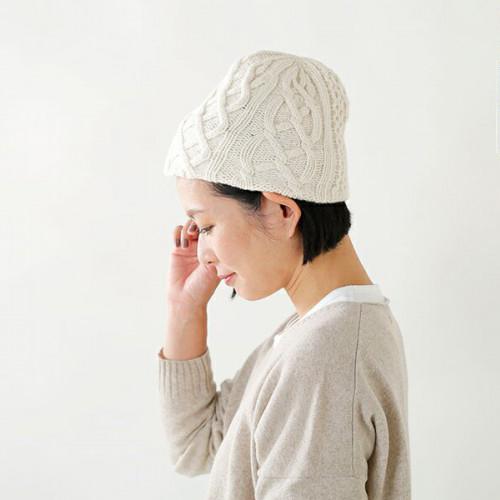 """mature ha.(マチュアーハ)ウールニットキャップ""""knit cap aran2 lamb"""" mk-2135"""
